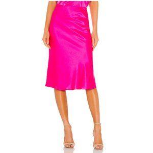 NEW Generation Love Astrid Midi Silk Skirt Pink XS